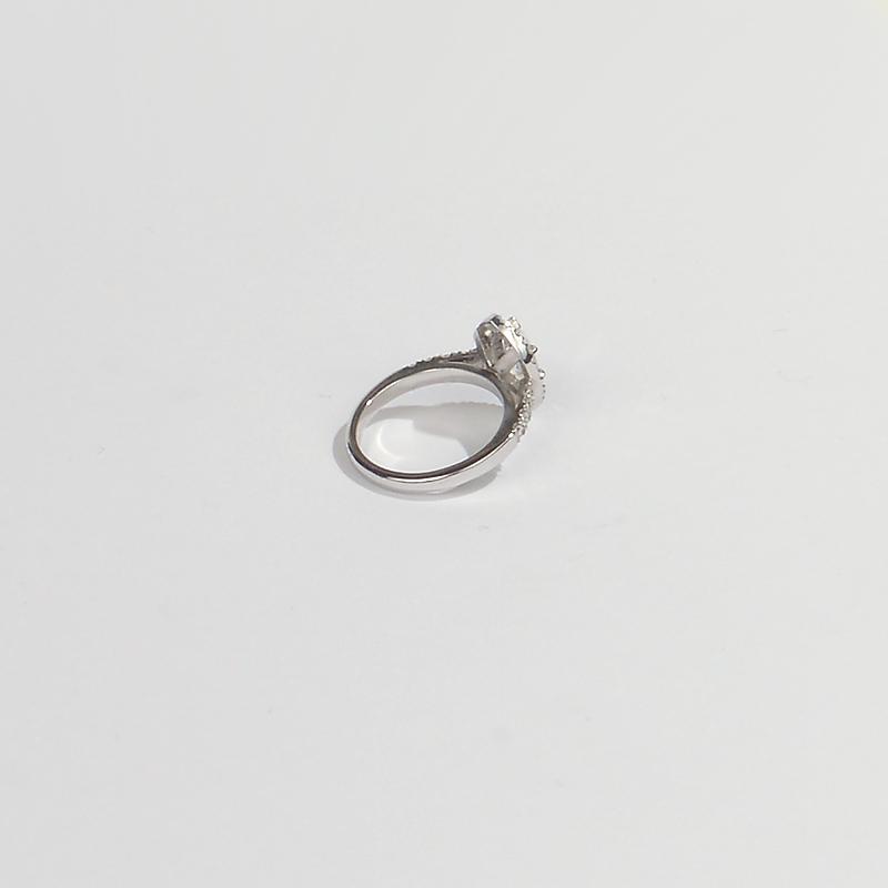 Platinum 1.85ct marquisette diamond ring